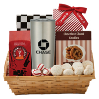 Coffee & Cookie Basket with 20 Oz. Himalayan Tumbler